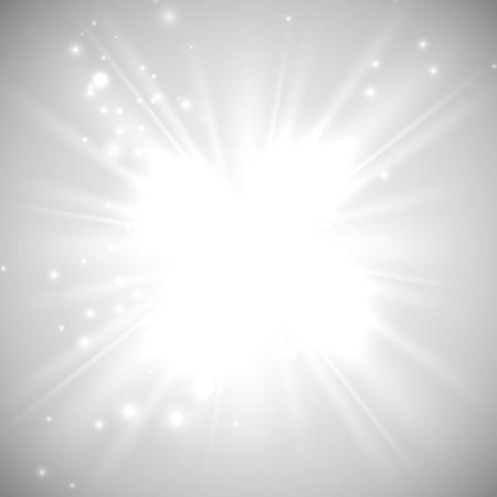 magie: illustration vectorielle de flash lumineux, une explosion ou une explosion sur le fond blanc