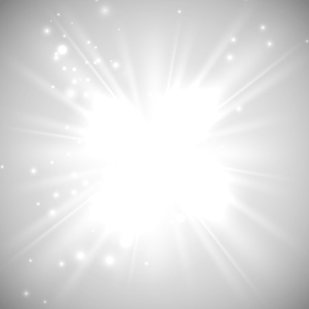 light beams: vector illustration of bright flash, explosion or burst on the white background Illustration