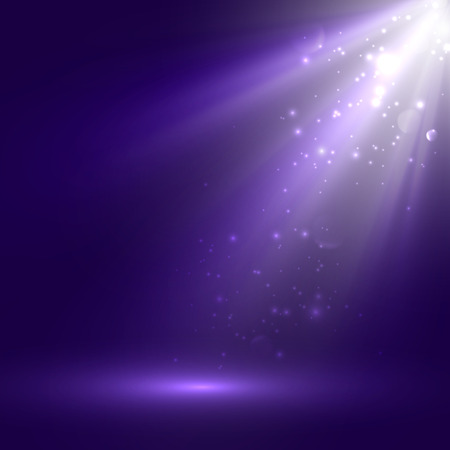 dancefloor: vector abstract illustration of bright stage light rays