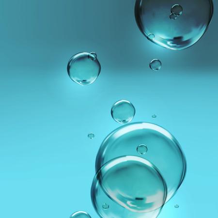 vector illustratie van transparante zoet glanzend water bellen
