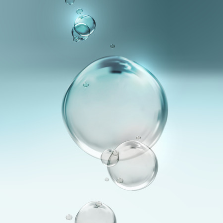 vector illustration of transparent fresh shiny water bubbles Stock Illustratie