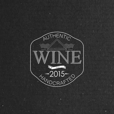 artdeco: ilustraci�n vectorial con etiqueta de vino adornado en textura de la cartulina. l�nea de art-deco elemento de dise�o elegante. plantilla de paquete