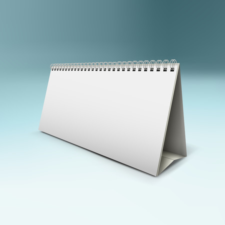 assign: vector illustration of desk calendar mock-up