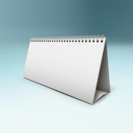 desk calendar: vector illustration of desk calendar mock-up