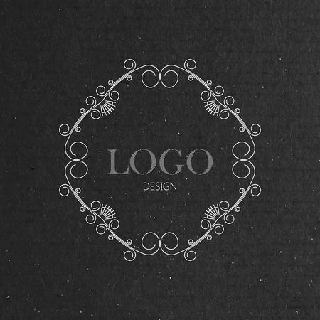 artdeco: ilustraci�n vectorial con marco de art-deco adornado en textura de la cartulina. l�nea elegante elemento de dise�o de arte Vectores