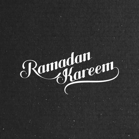 date night: vector typographic illustration of handwritten Ramadan Kareem retro label. lettering composition of muslim holy month
