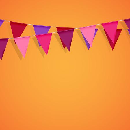 vector feestelijke illustratie van gors vlaggen. decoratieve elementen voor het ontwerp