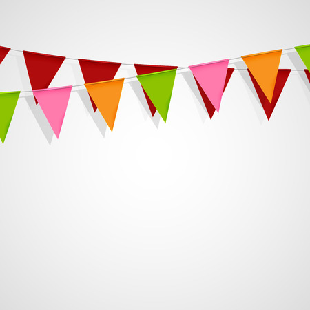 bunting flag: vector festive illustration of bunting flags. decorative elements for design Illustration