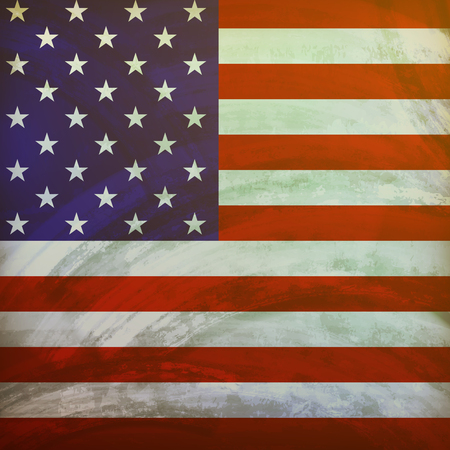 us flag grunge: vector illustration of the United States of America flag on with grunge texture.