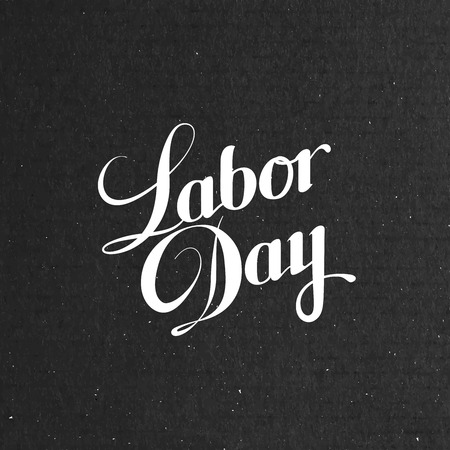 labour day: Labor Day. Vector illustration with lettering composition