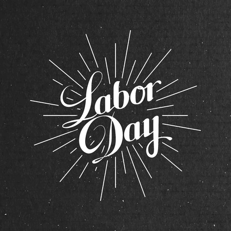 Labor Day. Vector illustration with lettering composition