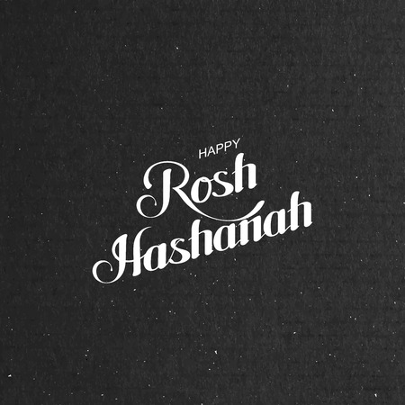 hashanah: Rosh Hashanah. Jewish New Year. Holiday Vector Illustration With Lettering Composition Illustration
