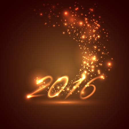 nouvel an: heureuse nouvelle année 2016. vacances fond Illustration
