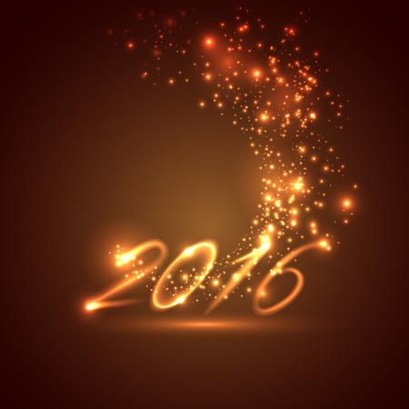 nowy rok: Szczęśliwego nowego roku 2016 w tle wakacje Ilustracja