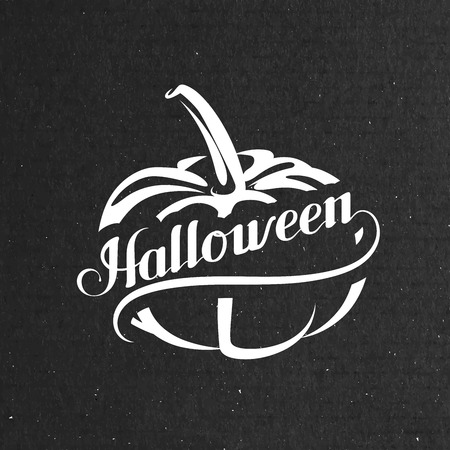 scripts: Halloween Pumpkin. Holiday Vector Illustration. Lettering Composition