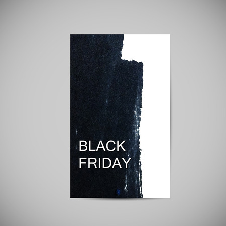 ink stain: Black Friday Sale label on the ink stain. Promotional flyer template