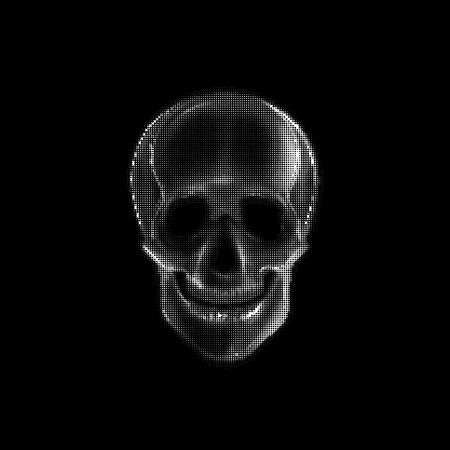 vector skull danger sign: Vector illustration with a human skull. Print design for t-shirt Illustration