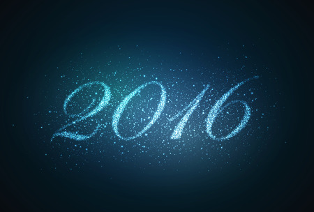 holiday background: happy new year 2016. holiday vector background with sparkles