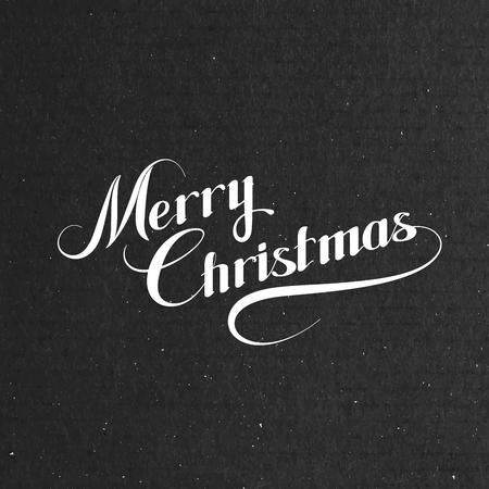 tipos de letras: Feliz Navidad. Ilustraci�n de vacaciones Vector. Composici�n letras