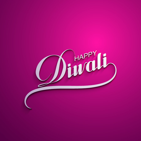 religious text: Diwali. Holiday Vector Illustration Of Religion Event Deepavali. Lettering Composition. Poster Template