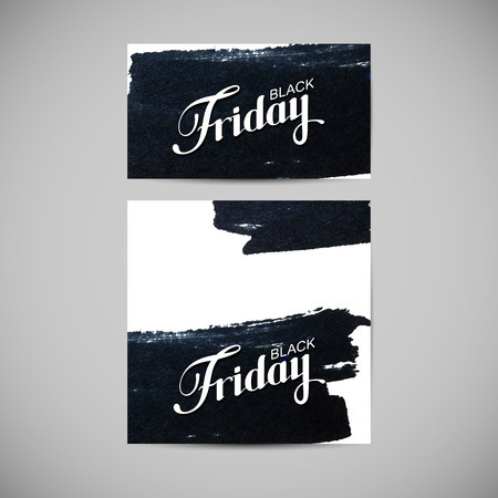 ink stain: Black Friday Sale label on the ink stain. Promotional templates