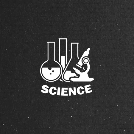 a solution tube: vector illustration of laboratory equipment icon. science concept Illustration