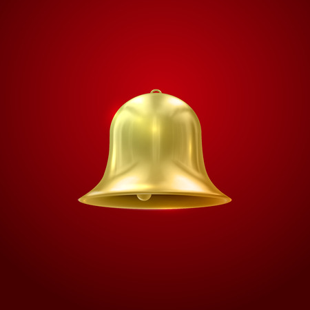 resonate: Golden bell. Vector Illustration