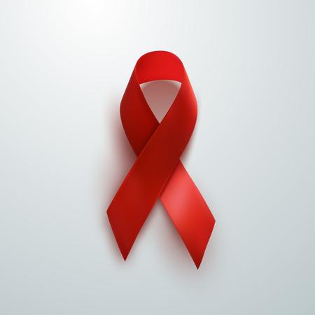 Aids Awareness Ribbon Red. Concept de la Journée mondiale du sida. Vecteur Banque d'images - 48391584