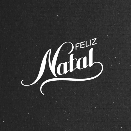 natal: Feliz Natal. Merry Christmas. Holiday Vector Illustration. Lettering composition