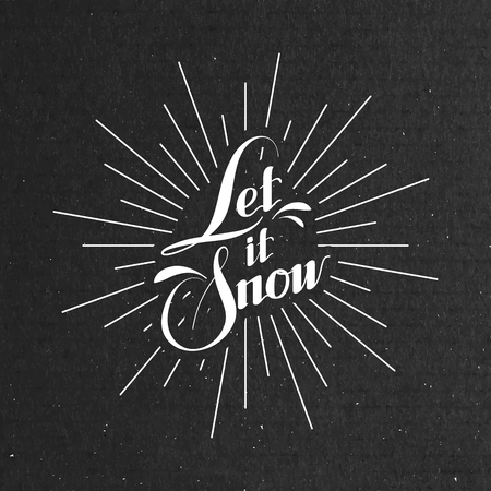 let it snow: Let It Snow. Seasonal Vector Illustration With Lettering Illustration