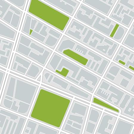 esquema: mapa de la ciudad. ilustración vectorial Vectores