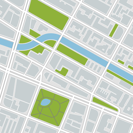 lake district: city map. vector illustration Illustration