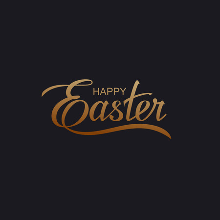 Happy Easter. Vector Illustration Of Holiday Religious Easter Lettering