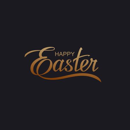 Gelukkig Pasen. Vector Illustratie Van Holiday Godsdienstige Pasen Belettering Vector Illustratie