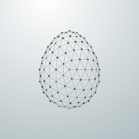 Paasei 3D veelhoekige vorm. vector illustratie Stock Illustratie
