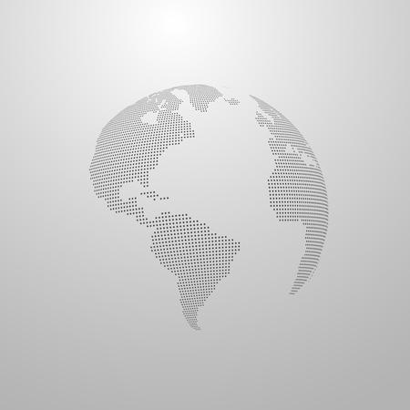 global design: vector illustration of a world map. globe label design. world global communication concept. international communication concept. global world vector map. halftone vector world map