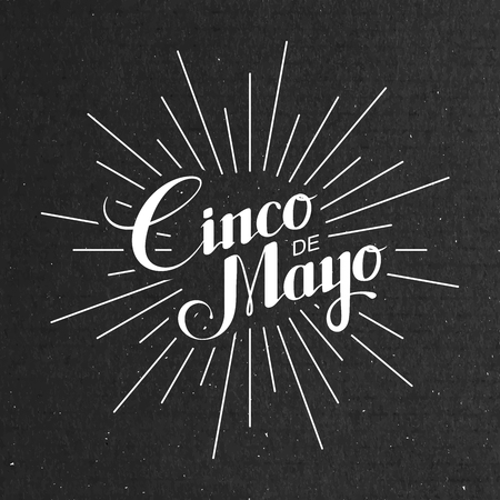 Cinco de Mayo vector illustration. 5 of May holiday vector. Cinco de Mayo holiday banner.  Cinco de Mayo holiday lettering. Cinco de Mayo handwritten illustration Çizim