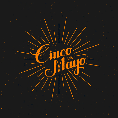 Cinco de Mayo矢量图。5月5日假期矢量。Cinco de Mayo假日横幅。Cinco de Mayo假期刻字。Cinco de Mayo手写的例证