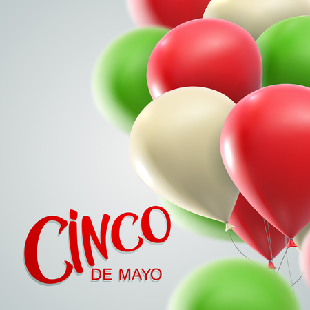 may: Cinco de Mayo vector illustration. 5 of May holiday vector. Cinco de Mayo holiday banner.  Cinco de Mayo holiday lettering. Cinco de Mayo illustration with balloons