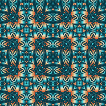 Seamless Floral Ethnic Pattern. Vintage Vector Ornament.  Celtic, Arabic Or Indian Motifs Background. Seamless Wallpaper For Fabric Or Wrapping Paper Design.  イラスト・ベクター素材