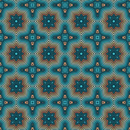 Patrones étnicos florales sin fisuras. Ornamento del vector de la vendimia. Antecedentes de motivos celtas, árabes o indios. Fondo de pantalla transparente para tela o diseño de papel de embalaje.