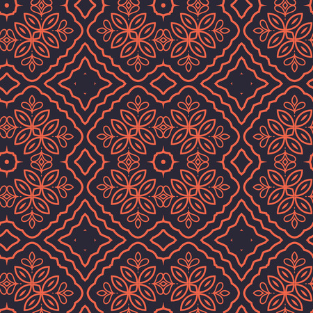wallpaper floral: Seamless Floral Ethnic Pattern. Vintage Vector Ornament.  Celtic, Arabic Or Indian Motifs Background. Seamless Wallpaper For Fabric Or Wrapping Paper Design. Illustration
