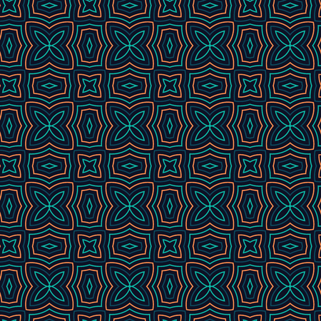 floral vintage: Seamless Floral Ethnic Pattern. Vintage Vector Ornament.  Celtic, Arabic Or Indian Motifs Background. Seamless Wallpaper For Fabric Or Wrapping Paper Design. Illustration