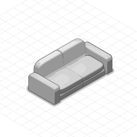 couches: Sofa or couch vector illustration. 3d isometric vector sofa or couch. Isometric vector furniture. Furniture illustration of sofa or couch