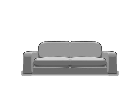 sofa furniture: Sofa or couch vector illustration. 3d vector sofa or couch. Vector furniture. Furniture illustration of sofa or couch Illustration