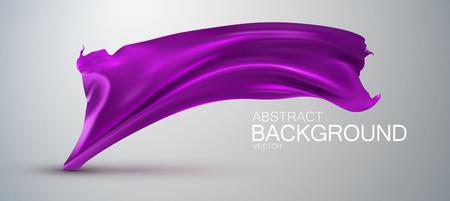 silk fabric: Purple silk fabric. Vector illustration with purple satin or silk fabric. Vector silk textile