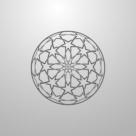 islamic pattern: Islamic Ethnic Pattern. Vintage Vector Islamic Ornament.  Arabic Or Islamic Motifs Background. Illustration