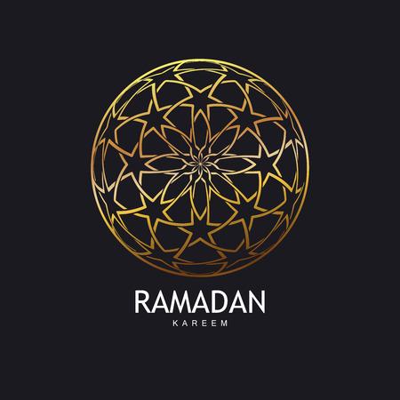 islamic pattern: Ramadan Kareem. Islamic Ethnic Golden Pattern. Vintage Vector Islamic Ornament.  Arabic Or Islamic Motifs Golden Pattern.