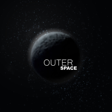 outerspace: Outer Space. Abstract vector illustration of planet and stars.