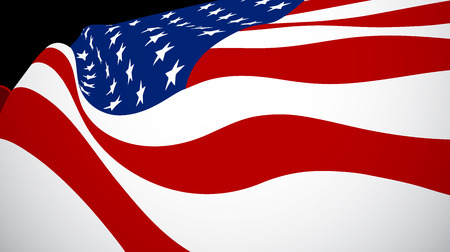 sates: Vector illustration of United Sates of American flag. USA flag